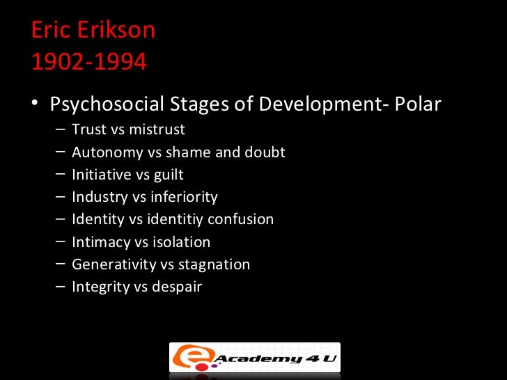 intimacy vs isolation essays Intimacy versus isolation is the sixth stage of erik erikson's theory of psychosocial developmentthis stage takes place during young adulthood between the ages of approximately 19 and 40 during this period, the major conflict centers on forming intimate, loving relationships with other people.