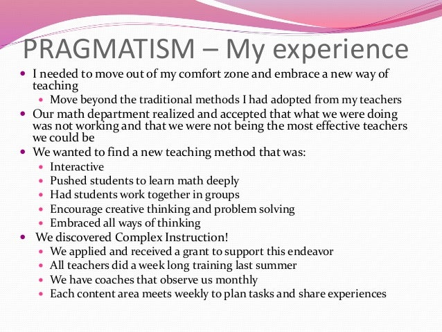 pragmatism and education essay