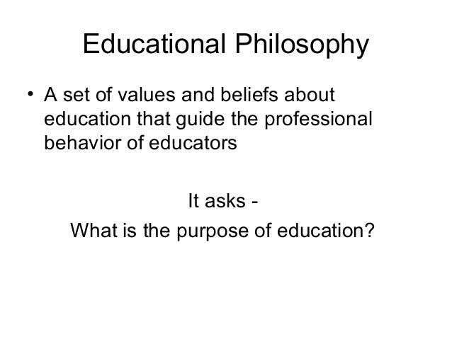 Philosophy of education Slide 3