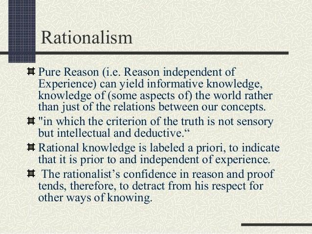 rationalism philosophy of education pdf