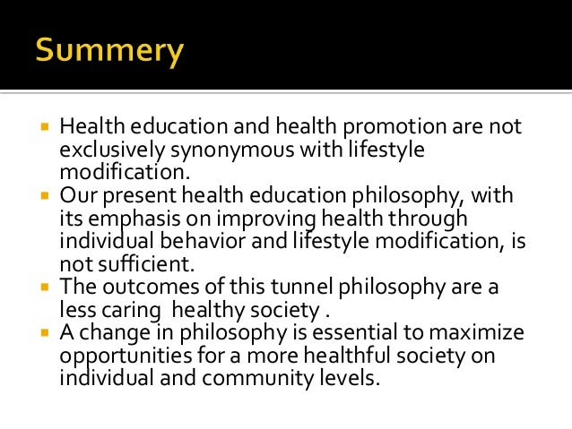 philosophy of health education A holistic approach to education focuses on the full person, not just the academic side here's an overview of the top 5 philosophies and their benefits.