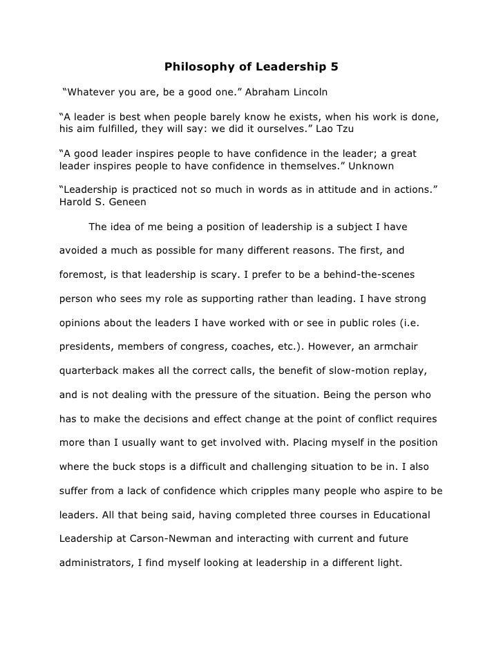 Educational leadership admissions essay