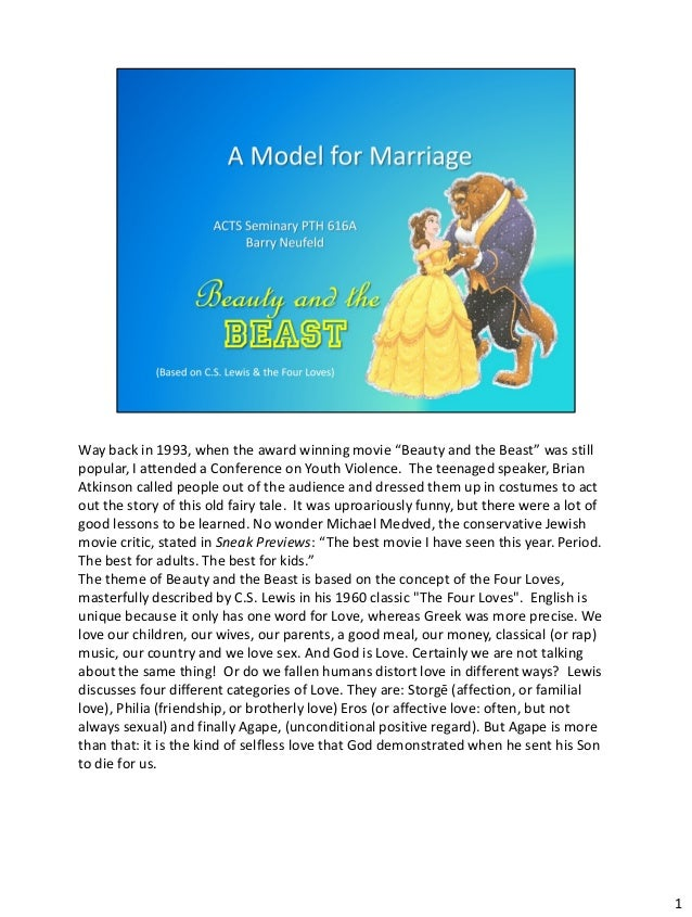 """Way back in 1993, when the award winning movie """"Beauty and the Beast"""" was stillpopular, I attended a Conference on Youth V..."""