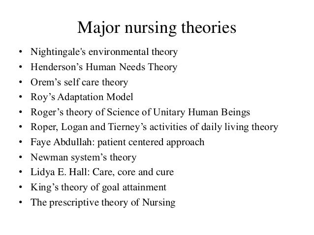 27 theorists and theories about nursing The change agent may be a nurse leader, staff nurse or someone who works with nurses change theories are used to bring about planned change in nursing nurses and nurse leaders must have knowledge of change theories and select the right change theory as all the available change theories in.