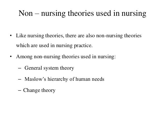 importance of theory of nursing theory The theory of nursing systems describes how the patient's self-care needs will be met by the nurse, the patient, or by both orem identifies three classifications of nursing system to meet the self-care requisites of the patient: wholly compensatory system, partly compensatory system, and supportive-educative system.