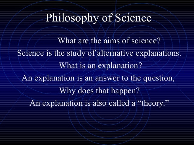 Philosophy and science are different in that