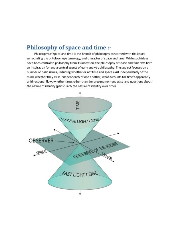philosophy of space and time University of northern iowathe philosophy of space and time source: the north american review, vol 99, no 204 (jul, 1864), pp 64.