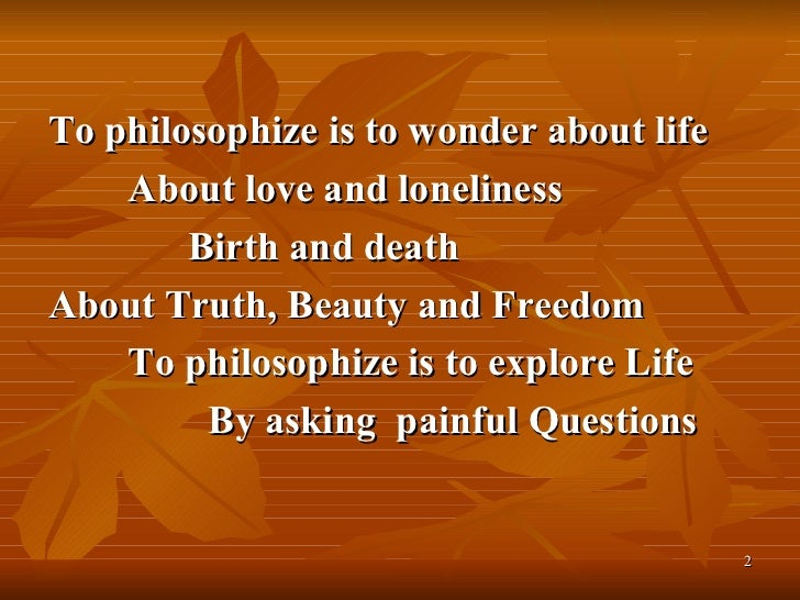 my philosophy of life presentation