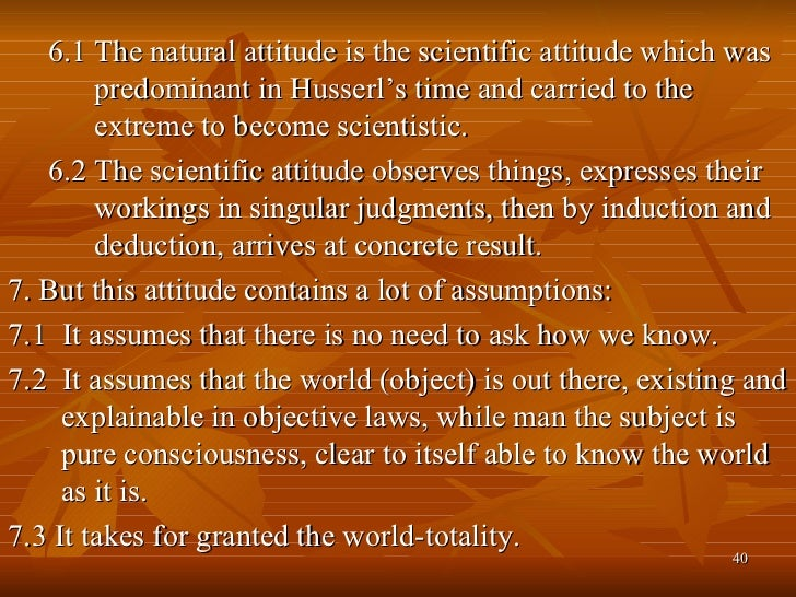 speech on scientific attitude The scientific attitude presents a systematic account of the cognitive and social features of science written by an experimental biologist actively engaged in research, the work is unique in its attempt to understand science in terms of day-to-day practice the book goes beyond the traditional description of science that focuses on method and logic to characterize the scientific attitude.