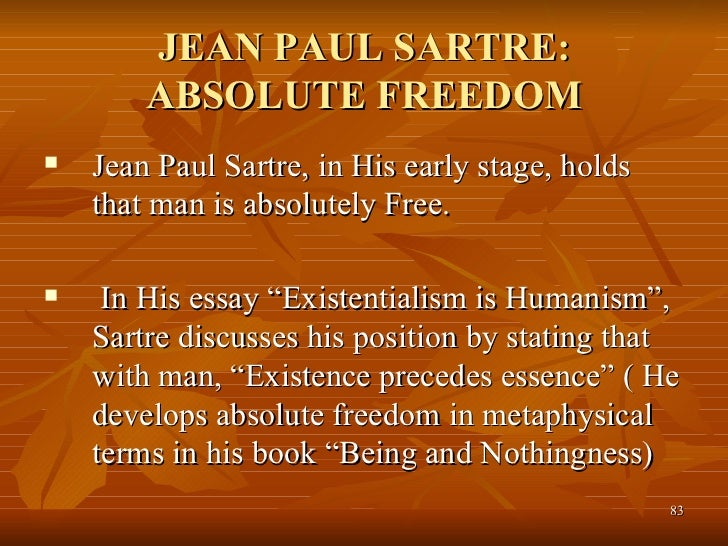 Jean-Paul Sartre's Being and Nothingness