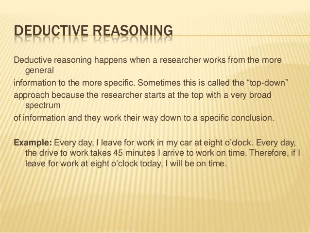 deductive argument essay Deduction and induction by themselves are inadequate to make a compelling argument introduction-to-writing-academic-prose/inductive-and-deductive-reasoning.