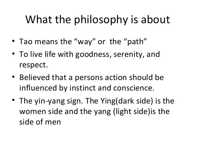 an analysis of the concept of taoism Taoism and its influence on the arts of china  starting point for a brief analysis of the philosophy as it encapsulates the essential idea at the basis of taoist thought, that of the yin-yang polarity and the interdependency of  concept of yin and yang leaves its stamp whether in the earlier paintings of the northern.