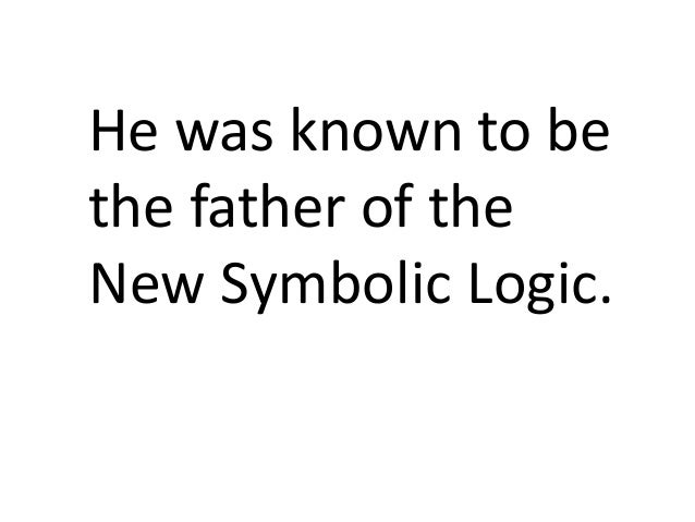 father of logic