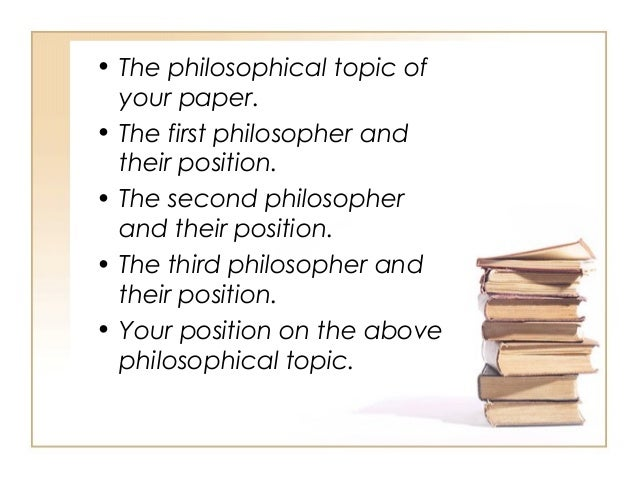 Philosophy term paper