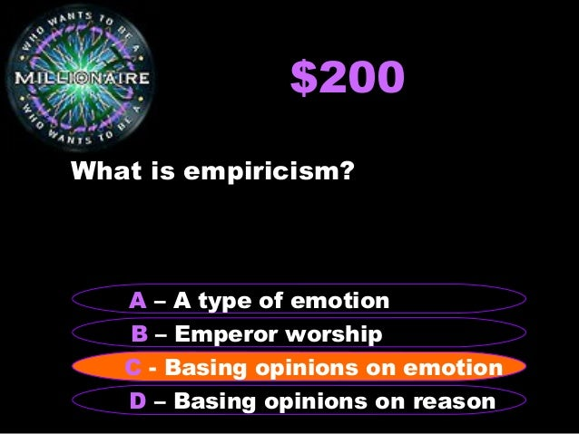 "who wants to be a millionaire"" philosophy theaetetus powerpoint, Powerpoint templates"