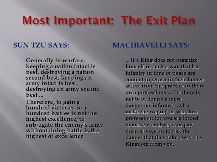 Machiavelli and Lao Tzu - compare and contrast essay