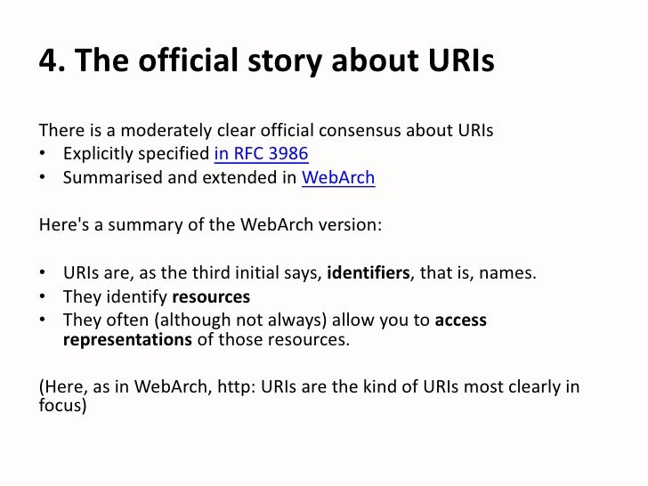 Henry Thompson : Are Uris really names?