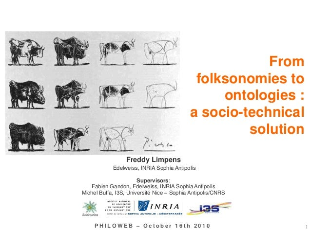 From folksonomies to ontologies : a socio-technical solution 1P H I L O W E B – O c t o b e r 1 6 t h 2 0 1 0 Freddy Limpe...