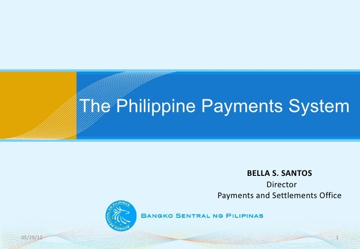 The Philippine Payments System                                BELLA S. SANTOS                                     Director...