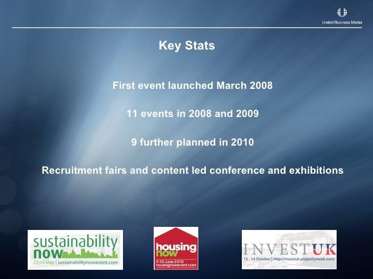 Key Stats <ul><li>First event launched March 2008 </li></ul><ul><li>11 events in 2008 and 2009 </li></ul><ul><li>9 further...