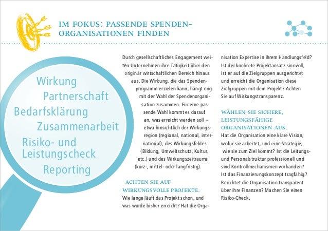 im fokus: passende spendenorganisationen finden  Wirkung Partnerschaft Bedarfsklärung Zusammenarbeit Risiko- und Leistungs...