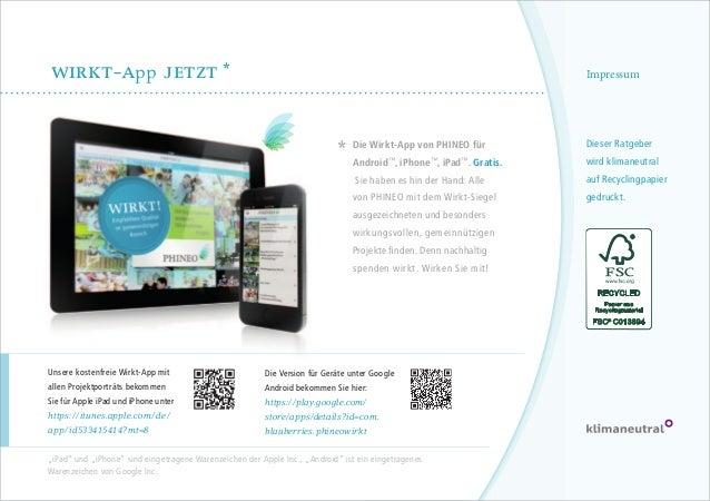 wirkt-app Jetzt *  Impressum  Die Wirkt-App von PHINEO für  Dieser Ratgeber  Sie haben es hin der Hand: Alle  auf Recyclin...
