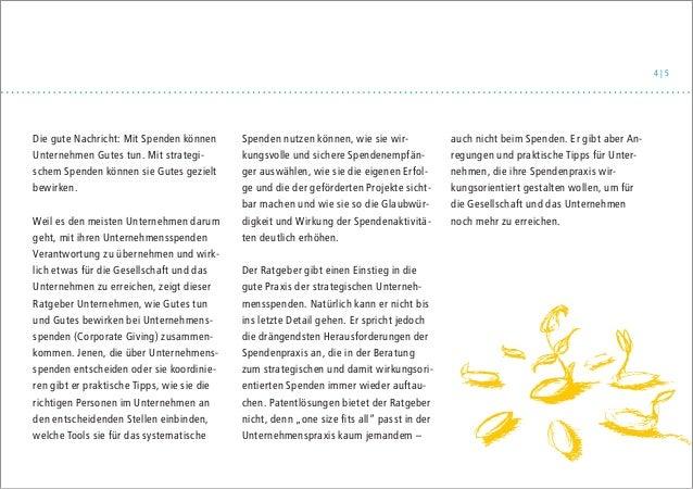 4|5  Die gute Nachricht: Mit Spenden können Unternehmen Gutes tun. Mit strategischem Spenden können sie Gutes gezielt bewi...