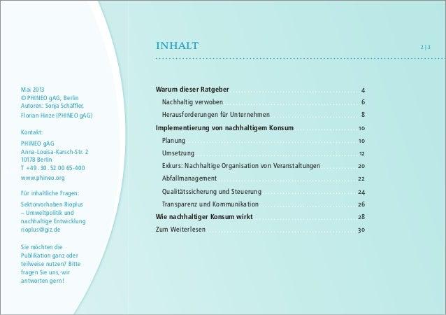 Beschaffen Sie Zukunft! - Ratgeber für Nachhaltigen Konsum in Unternehmen Slide 3