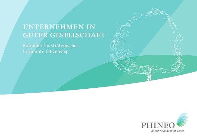 Ratgeber für strategisches Corporate Citizenship unternehmen in guter gesellschaft