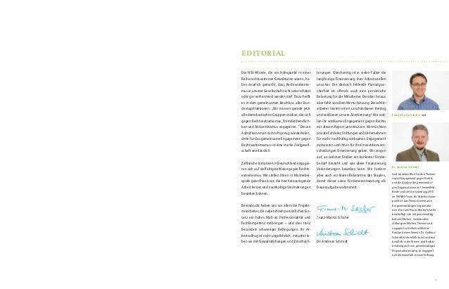 Engagiert gegen Rechts - Report über wirkungsvolles zivilgesellschaftliches Engagement gegen Rechtsextremismus und Menschfeindlichkeit Slide 2
