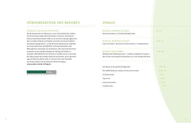Engagiert gegen Rechts - Report über wirkungsvolles zivilgesellschaftliches Engagement gegen Rechtsextremismus und Menschfeindlichkeit Slide 3