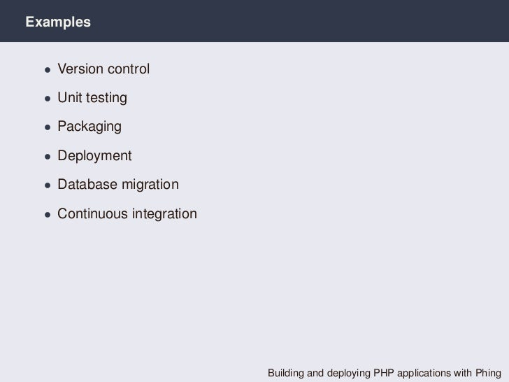building and deploying php applications with phing