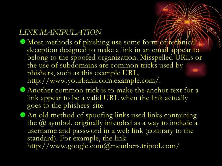 how to make phishing link