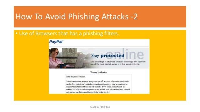 how to stop phishing attacks