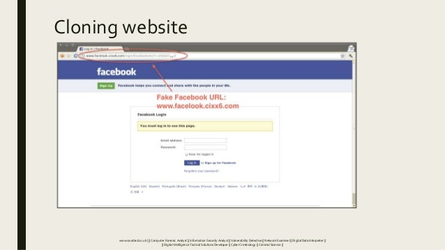 Cloning website www.naushad.co.uk      Computer Forensic Analyst    Information Security Analyst    Vulnerability Detectiv...