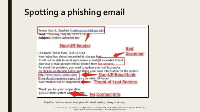 Spotting a phishing email https://techviral.net/wp-content/uploads/2016/07/Identify-phishing-emails.jpg www.naushad.co.uk ...