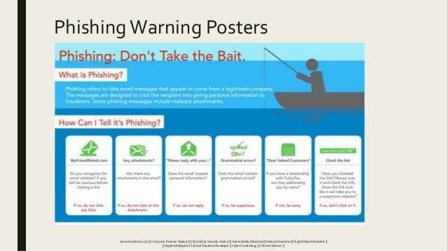 PhishingWarning Posters www.naushad.co.uk      Computer Forensic Analyst    Information Security Analyst    Vulnerability ...