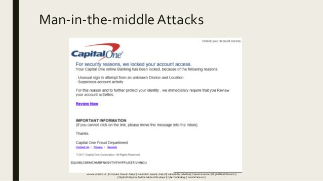 Man-in-the-middleAttacks www.naushad.co.uk      Computer Forensic Analyst    Information Security Analyst    Vulnerability...