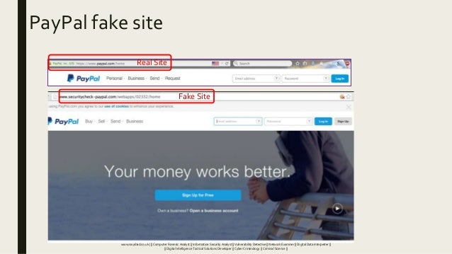 PayPal fake site Real Site Fake Site www.naushad.co.uk      Computer Forensic Analyst    Information Security Analyst    V...