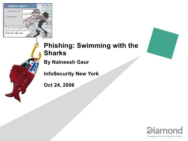 Phishing: Swimming with the Sharks By Nalneesh Gaur InfoSecurity New York Oct 24, 2006