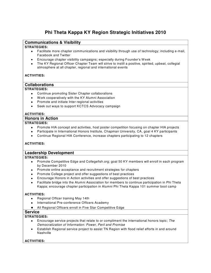 Phi Theta Kappa KY Region Strategic Initiatives 2010<br />Communications & VisibilitySTRATEGIES:Facilitate more chapter co...
