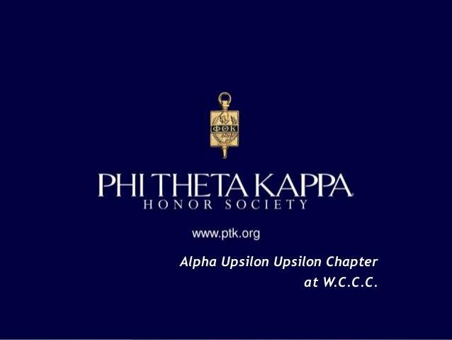Alpha Upsilon Upsilon Chapter at W.C.C.C.