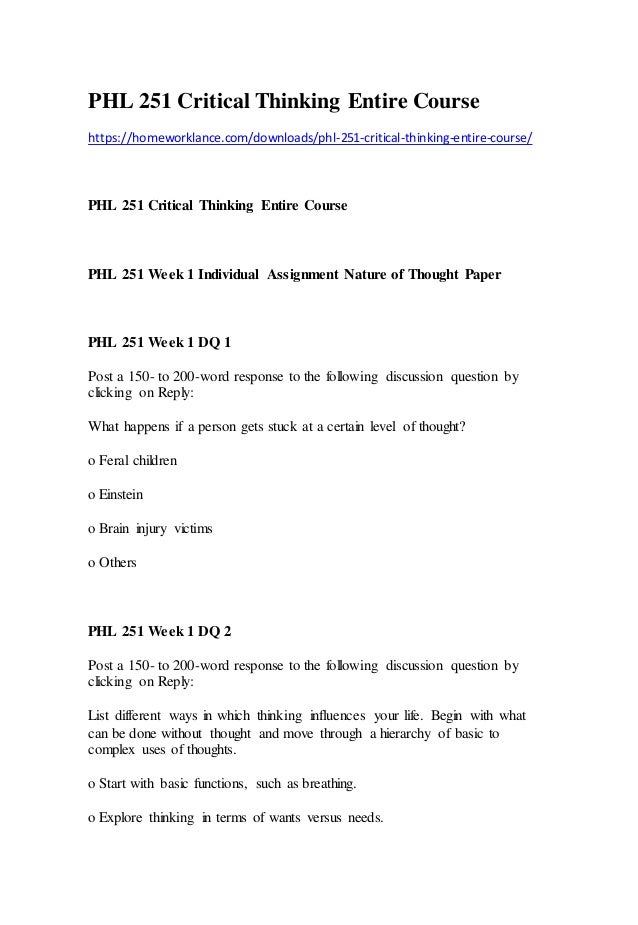 phil 104 critical thinking assignment