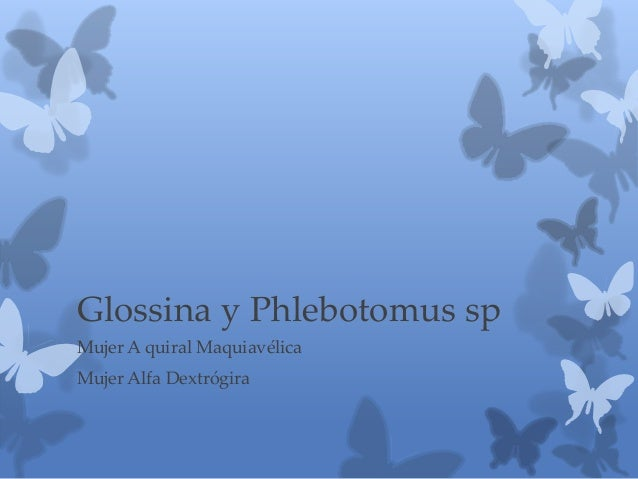 Glossina y Phlebotomus sp Mujer A quiral Maquiavélica Mujer Alfa Dextrógira