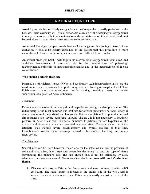 phlebotomy essay