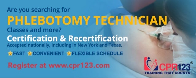 Phlebotomy Technician Certification And Recertification Nyc Ny