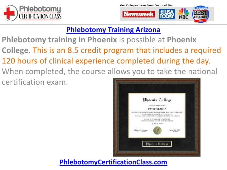 1 Day Phlebotomy Certification Course Choice Image Certificate