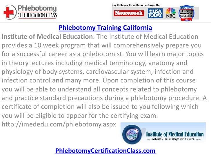 Phlebotomy Training California