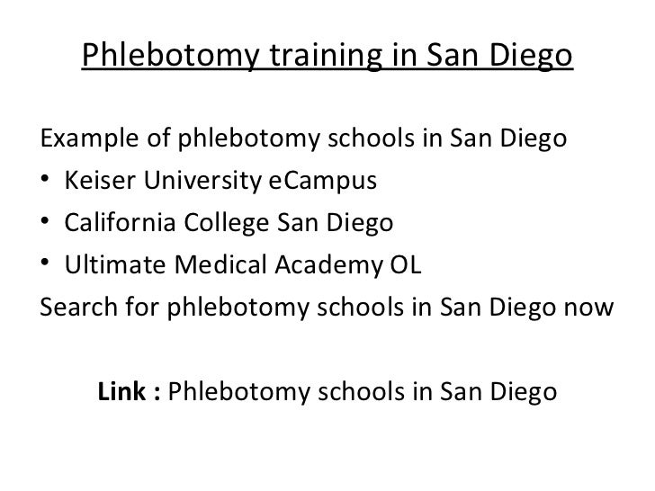 Phlebotomy Training San Diego