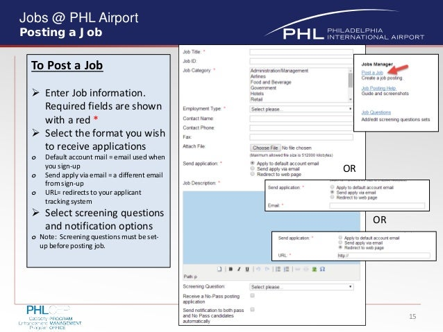 Phl Job Portal Training Guide